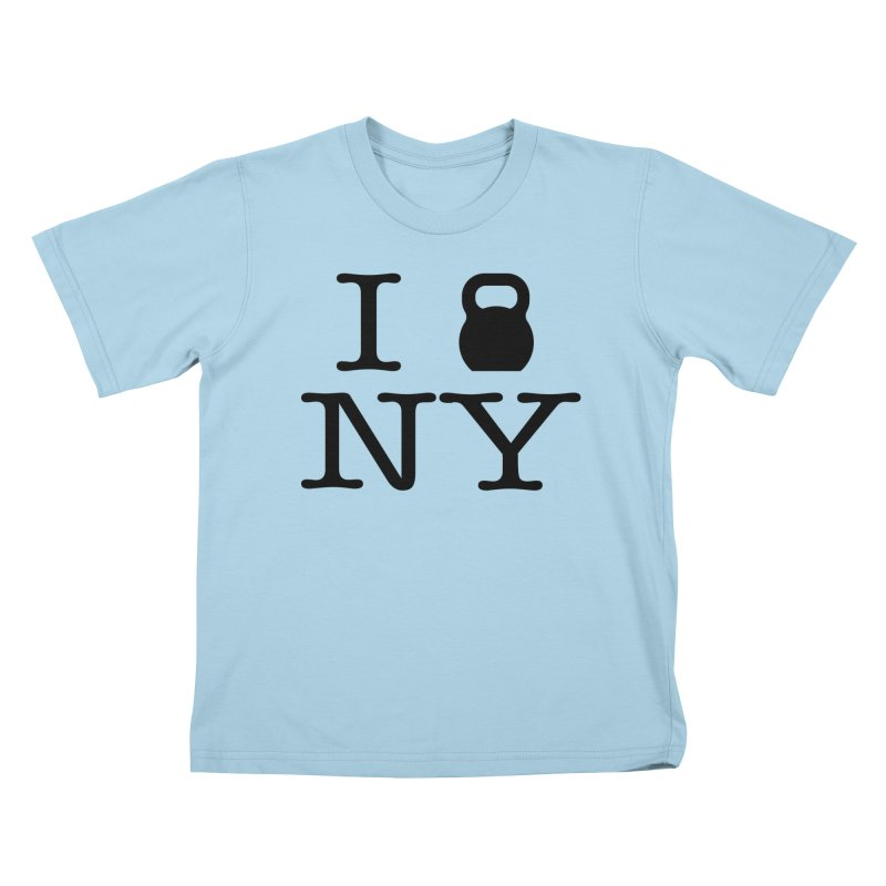 I Kettlebell NY Kids T-Shirt by OR designs