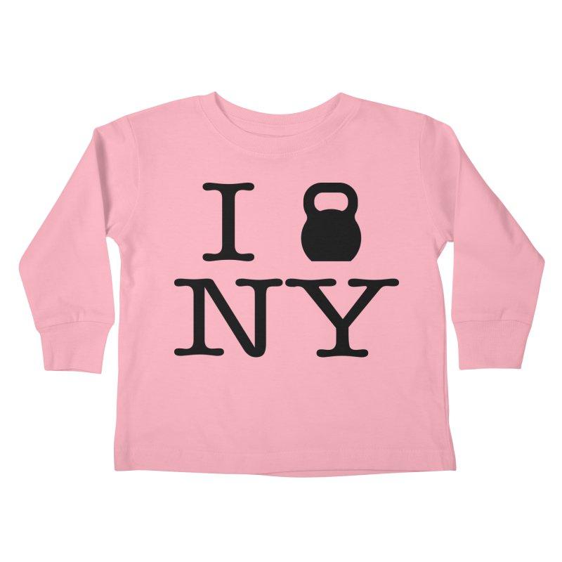 I Kettlebell NY Kids Toddler Longsleeve T-Shirt by OR designs