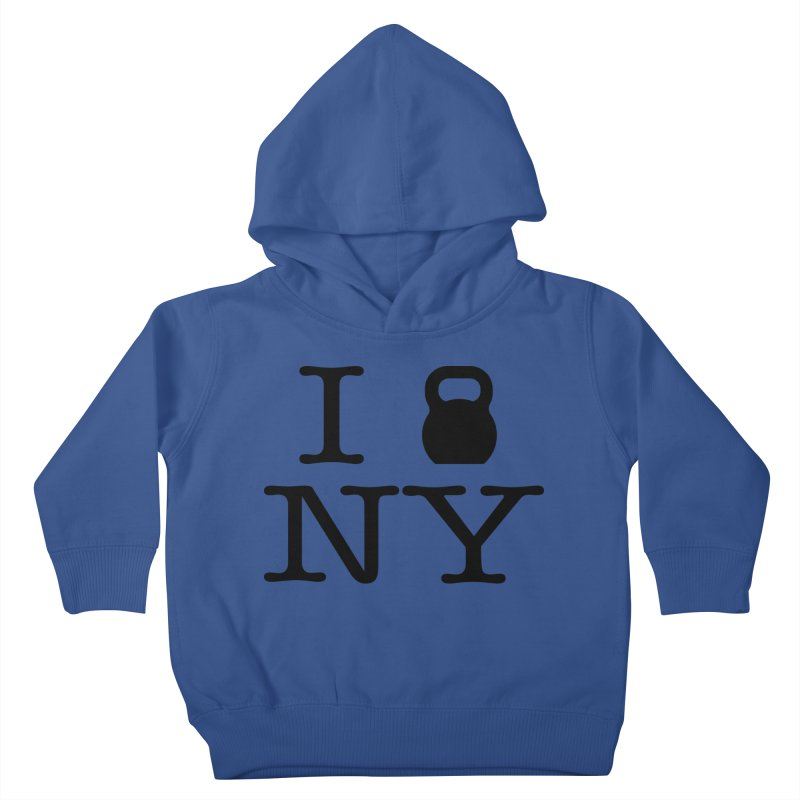 I Kettlebell NY Kids Toddler Pullover Hoody by OR designs