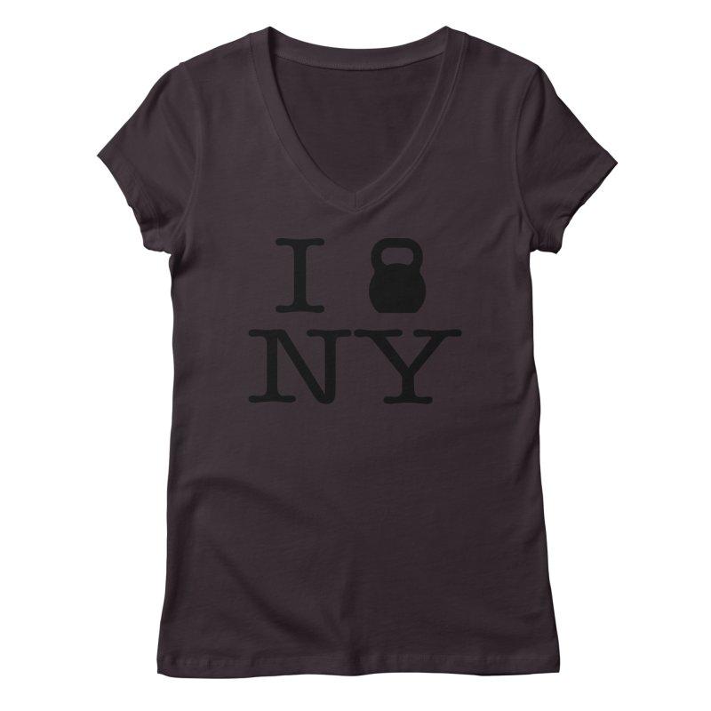I Kettlebell NY Women's Regular V-Neck by OR designs