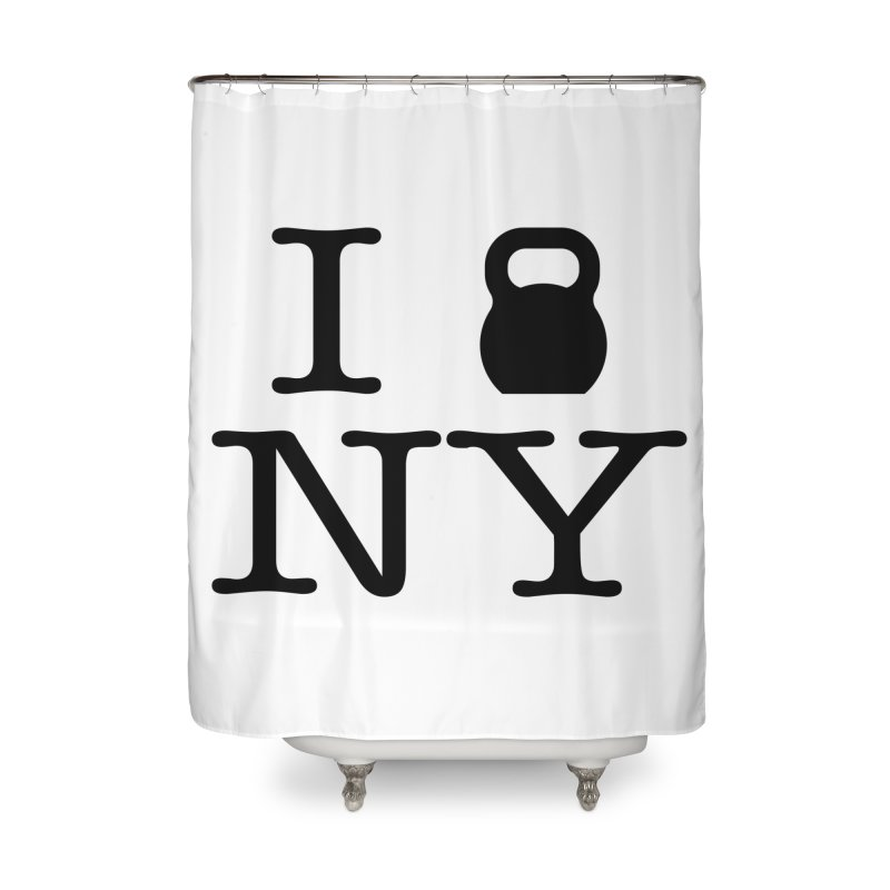 I Kettlebell NY Home Shower Curtain by OR designs