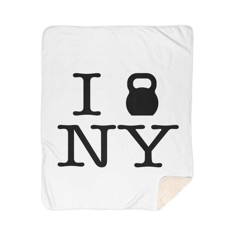 I Kettlebell NY Home Sherpa Blanket Blanket by OR designs
