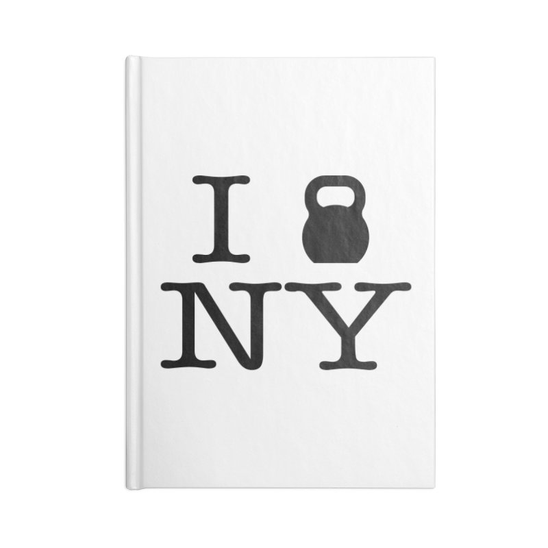 I Kettlebell NY Accessories Lined Journal Notebook by OR designs
