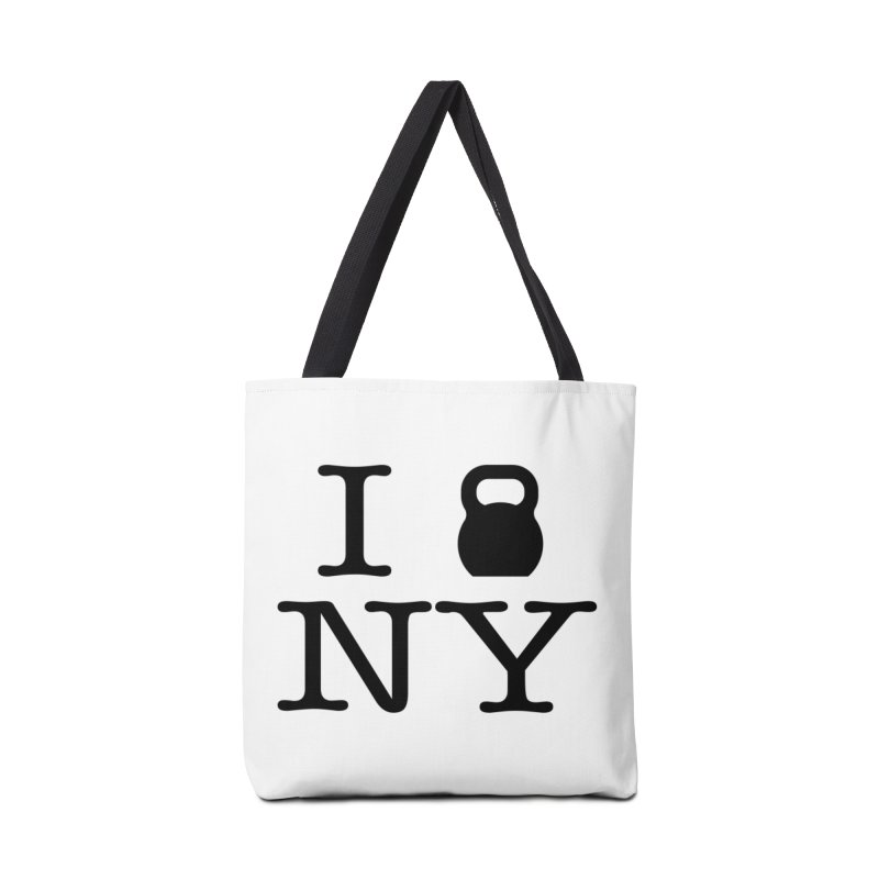 I Kettlebell NY Accessories Tote Bag Bag by OR designs