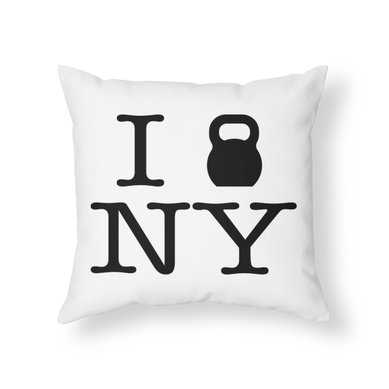 I Kettlebell NY Home Throw Pillow by OR designs