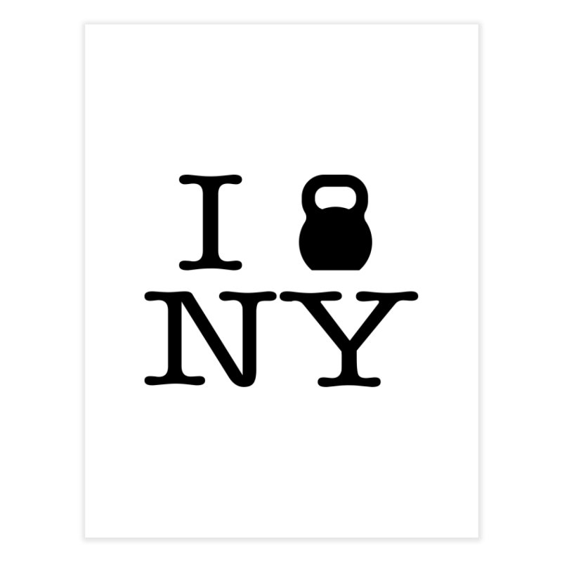 I Kettlebell NY Home Fine Art Print by OR designs