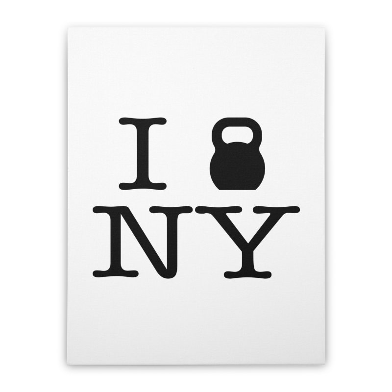 I Kettlebell NY Home Stretched Canvas by OR designs