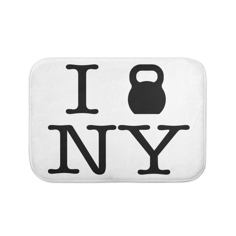 I Kettlebell NY Home Bath Mat by OR designs