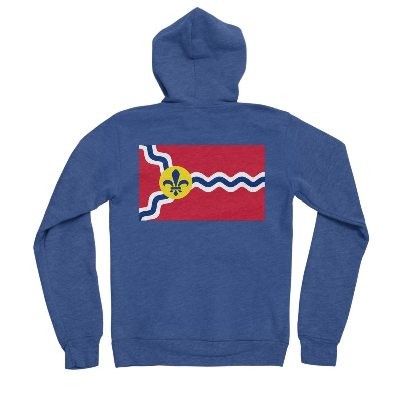 Saint Louis City Flag Women's Sponge Fleece Zip-Up Hoody by OR designs