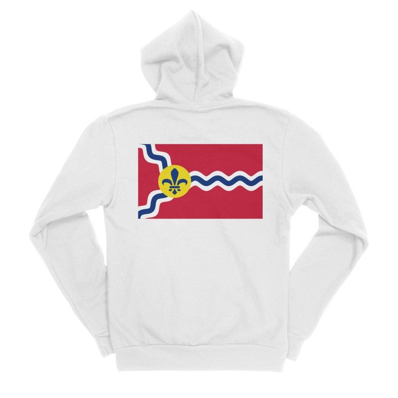 Saint Louis City Flag Women's Sponge Fleece Zip-Up Hoody by OR designs