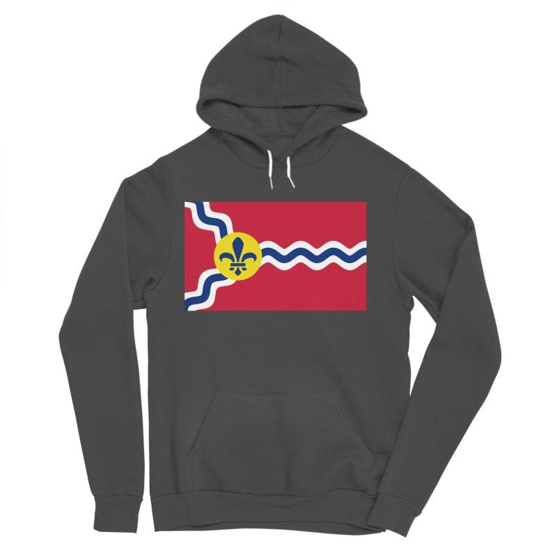 Saint Louis City Flag Men's Sponge Fleece Pullover Hoody by OR designs