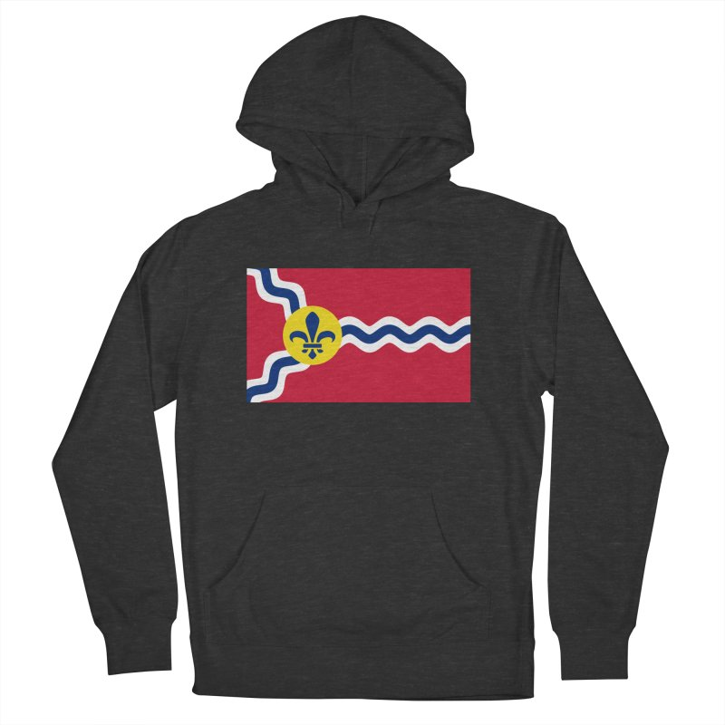 Saint Louis City Flag Women's French Terry Pullover Hoody by OR designs