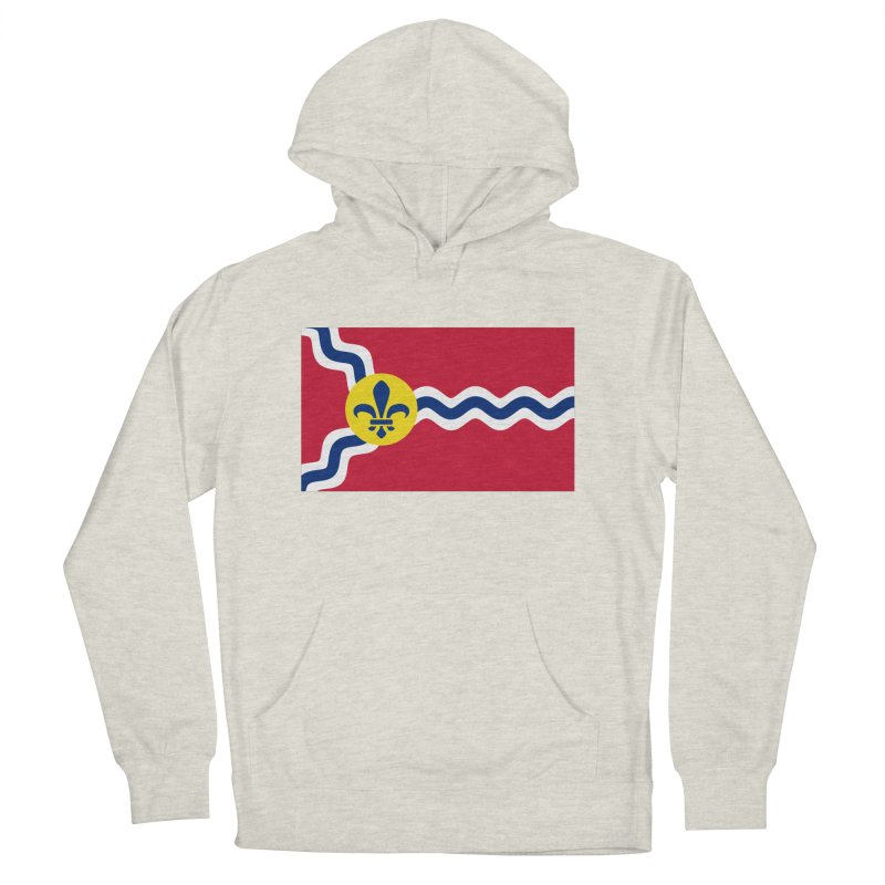 Saint Louis City Flag Men's French Terry Pullover Hoody by OR designs
