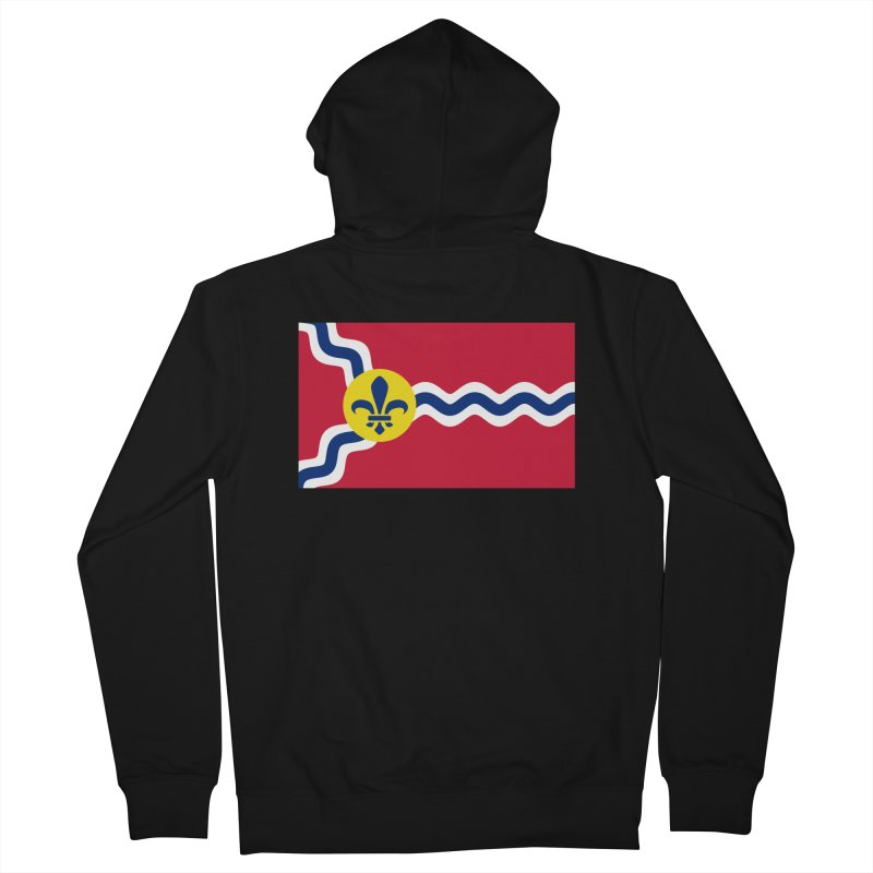 Saint Louis City Flag Women's French Terry Zip-Up Hoody by OR designs