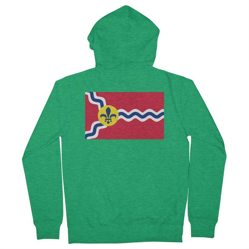 Saint Louis City Flag Men's Zip-Up Hoody by OR designs