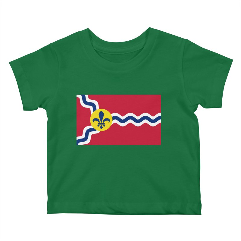 Saint Louis City Flag Kids Baby T-Shirt by OR designs