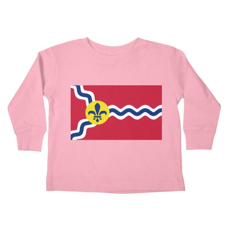 Saint Louis City Flag Kids Toddler Longsleeve T-Shirt by OR designs