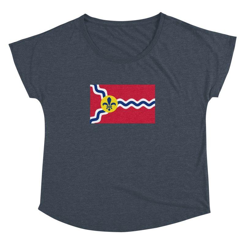 Saint Louis City Flag Women's Dolman Scoop Neck by OR designs