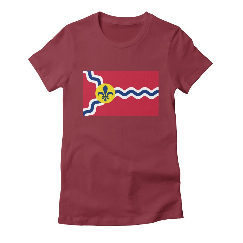 Saint Louis City Flag Women's Fitted T-Shirt by OR designs