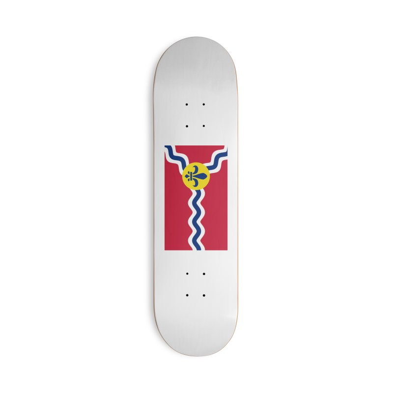 Saint Louis City Flag Accessories Deck Only Skateboard by OR designs
