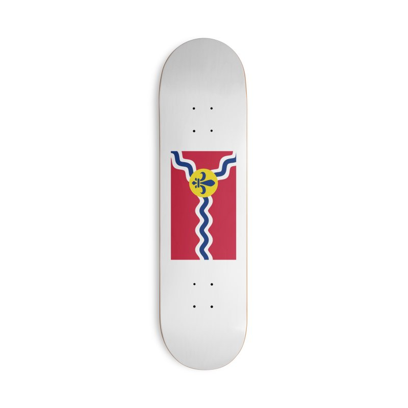 Saint Louis City Flag Accessories Skateboard by OR designs