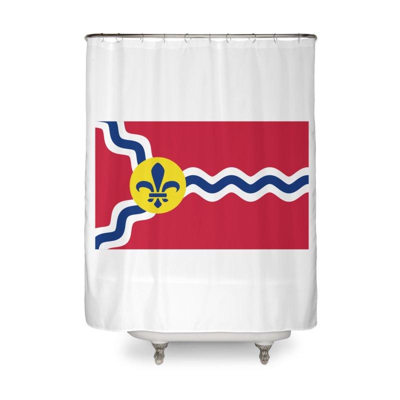 Saint Louis City Flag Home Shower Curtain by OR designs