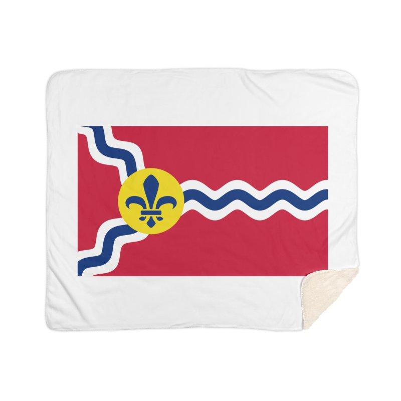 Saint Louis City Flag Home Sherpa Blanket Blanket by OR designs