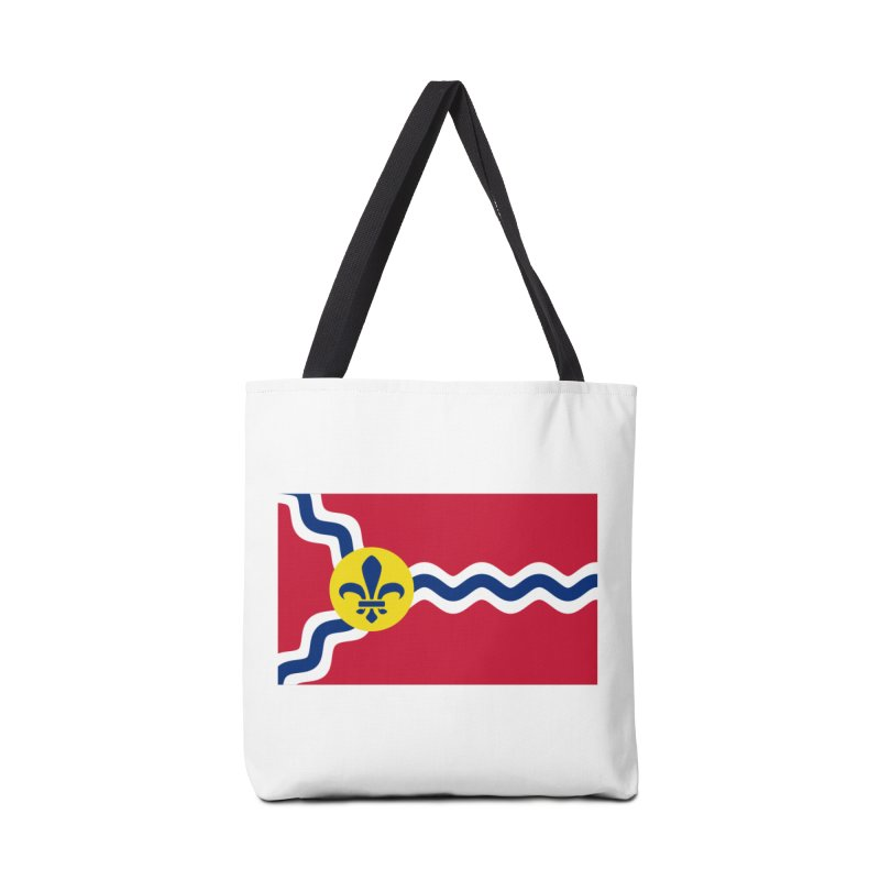 Saint Louis City Flag Accessories Tote Bag Bag by OR designs