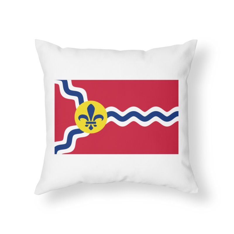 Saint Louis City Flag Home Throw Pillow by OR designs