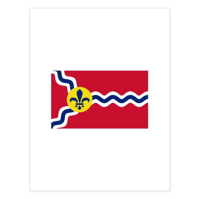 Saint Louis City Flag Home Fine Art Print by OR designs