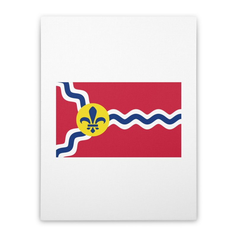 Saint Louis City Flag Home Stretched Canvas by OR designs