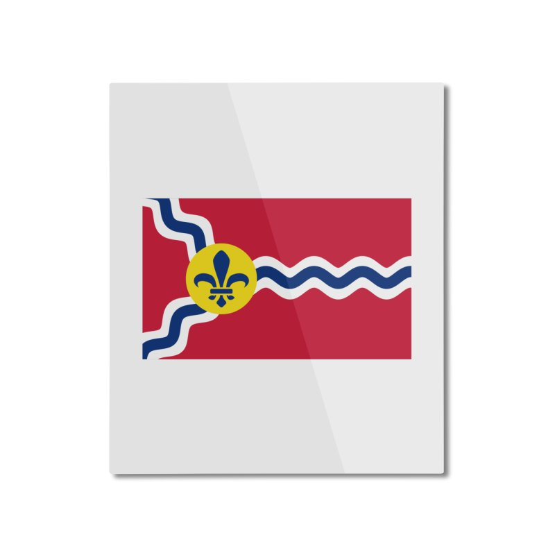 Saint Louis City Flag Home Mounted Aluminum Print by OR designs