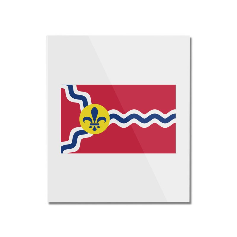 Saint Louis City Flag Home Mounted Acrylic Print by OR designs