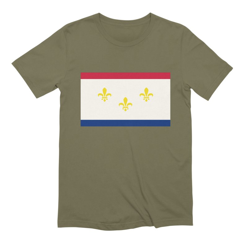 New Orleans City Flag Men's Extra Soft T-Shirt by OR designs