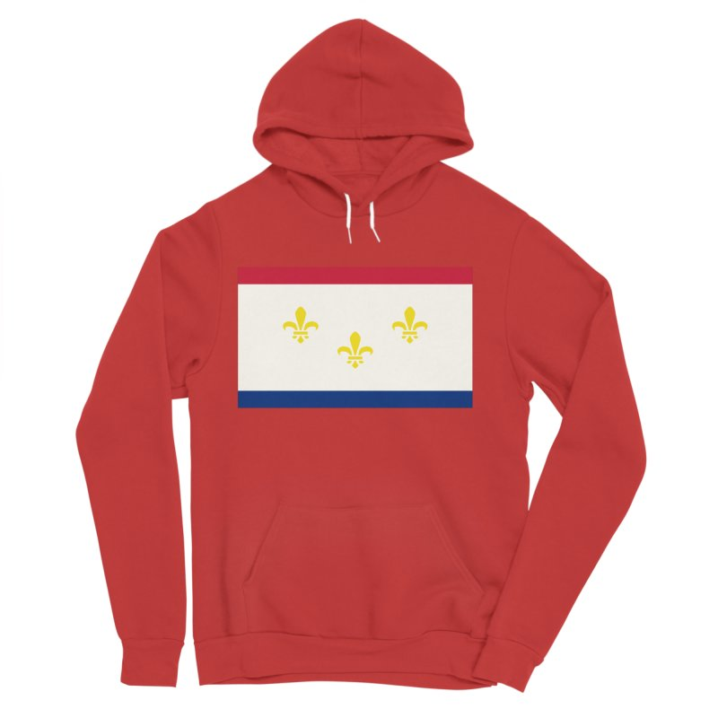 New Orleans City Flag Women's Sponge Fleece Pullover Hoody by OR designs