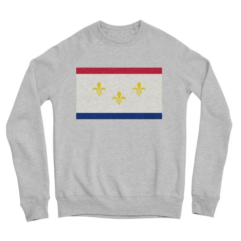 New Orleans City Flag Women's Sponge Fleece Sweatshirt by OR designs