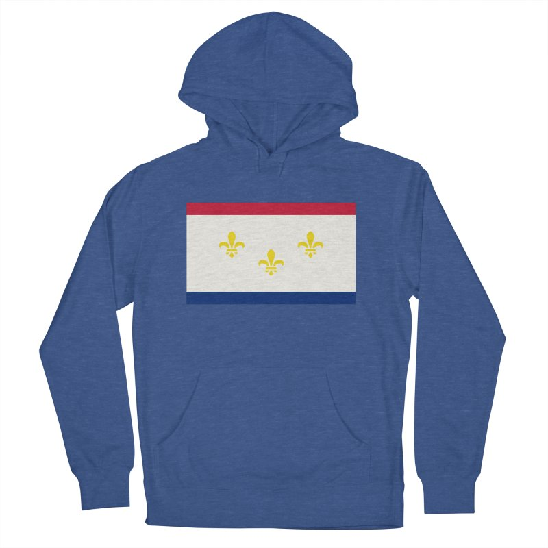 New Orleans City Flag Women's French Terry Pullover Hoody by OR designs
