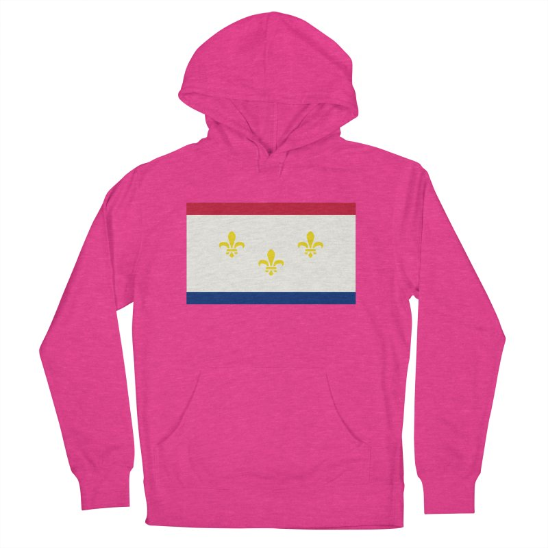 New Orleans City Flag Men's French Terry Pullover Hoody by OR designs