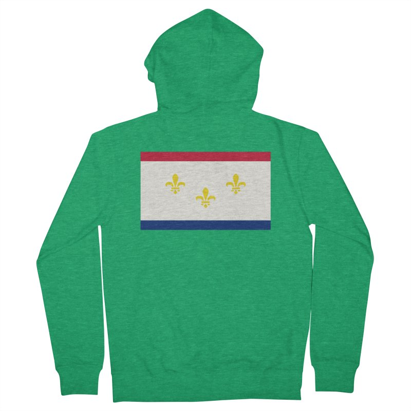 New Orleans City Flag Women's Zip-Up Hoody by OR designs