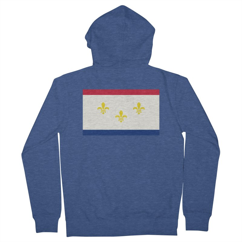 New Orleans City Flag Women's French Terry Zip-Up Hoody by OR designs