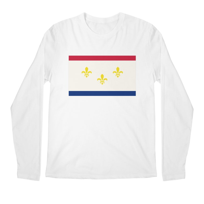New Orleans City Flag Men's Regular Longsleeve T-Shirt by OR designs