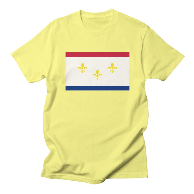 New Orleans City Flag Men's Regular T-Shirt by OR designs
