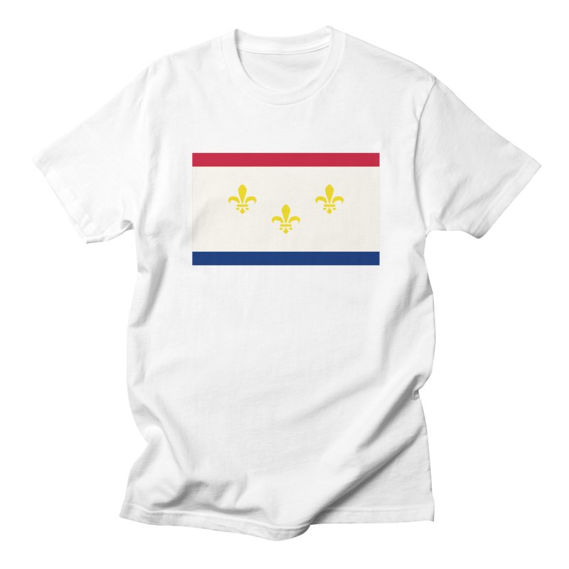 New Orleans City Flag Men's Regular T-Shirt by OR designs