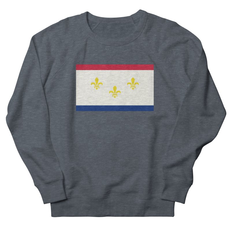 New Orleans City Flag Women's French Terry Sweatshirt by OR designs