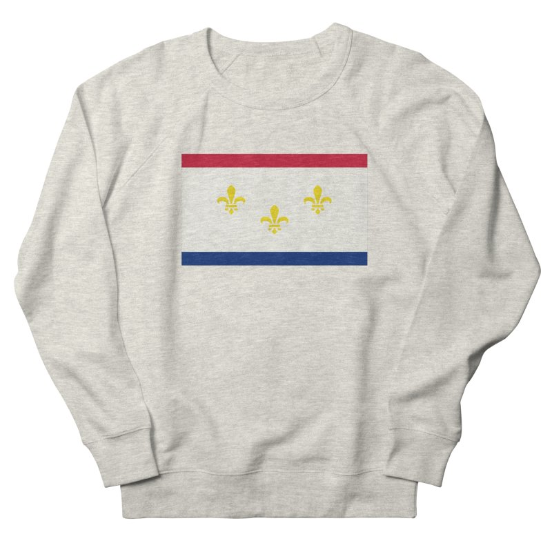 New Orleans City Flag Men's French Terry Sweatshirt by OR designs