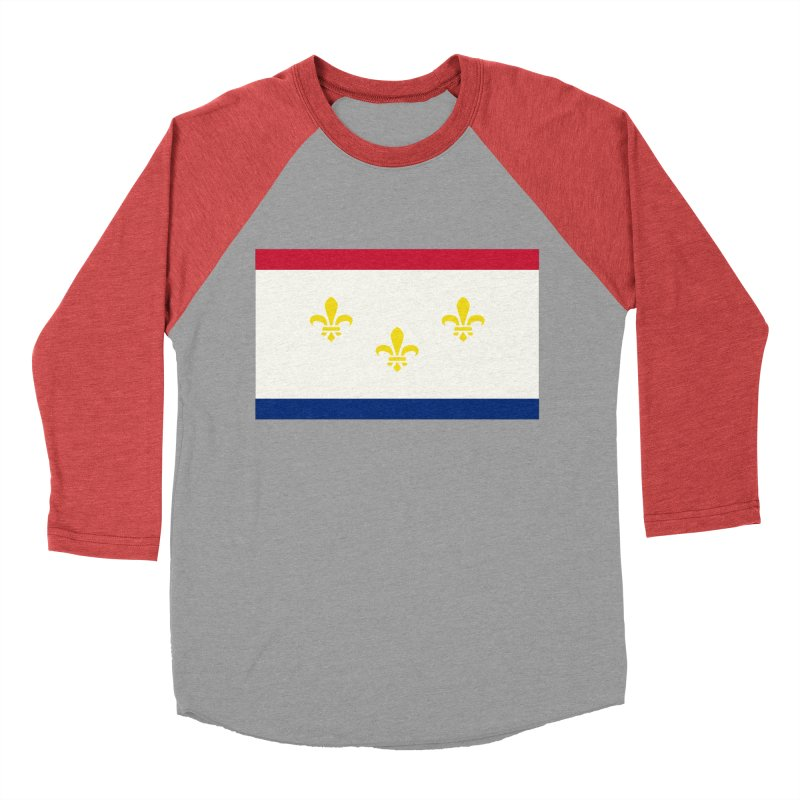 New Orleans City Flag Women's Baseball Triblend Longsleeve T-Shirt by OR designs