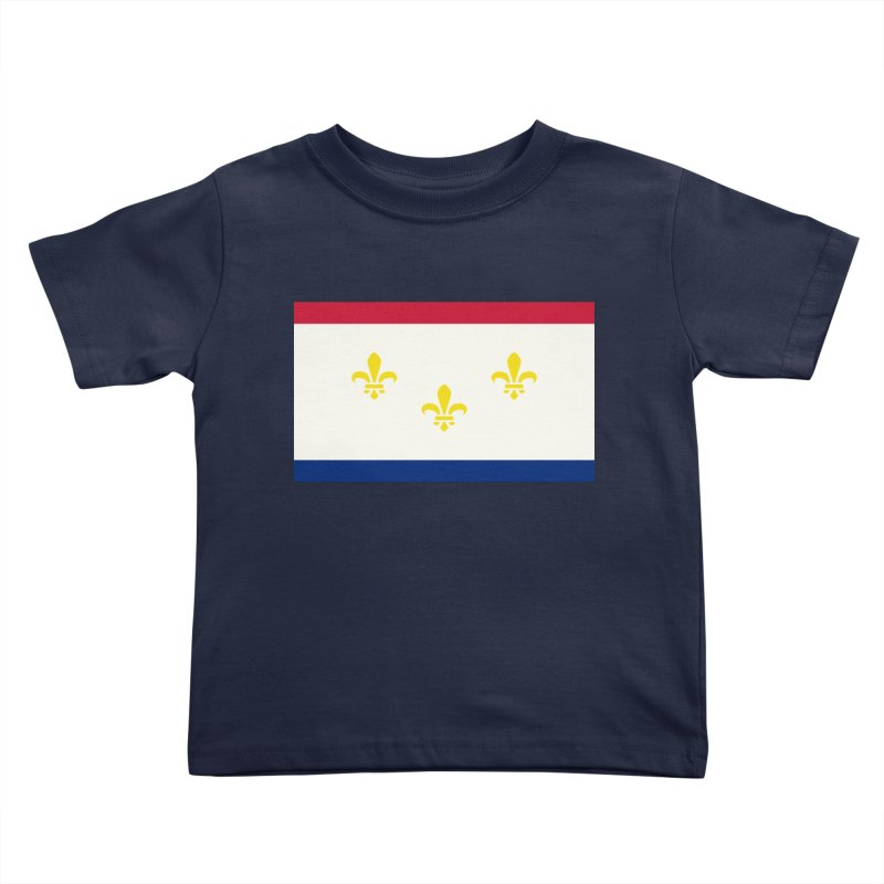 New Orleans City Flag Kids Toddler T-Shirt by OR designs