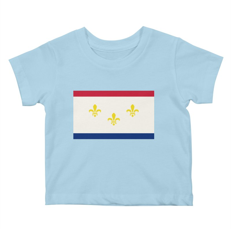 New Orleans City Flag Kids Baby T-Shirt by OR designs