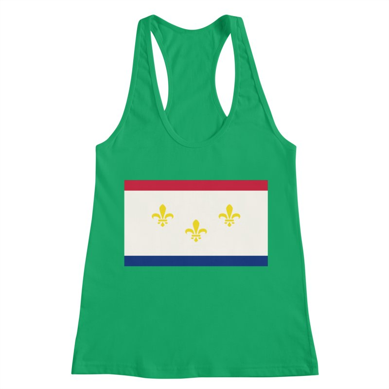 New Orleans City Flag Women's Racerback Tank by OR designs