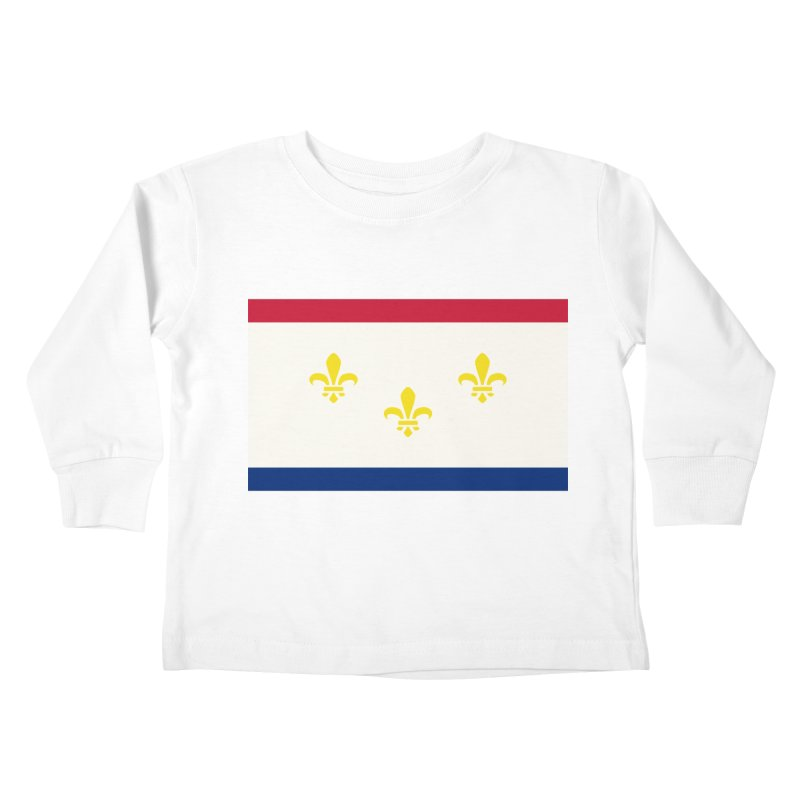 New Orleans City Flag Kids Toddler Longsleeve T-Shirt by OR designs